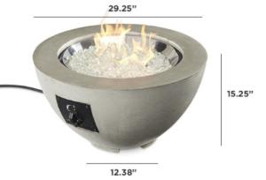 "Cove 20"" Gas Fire Pit Bowl"