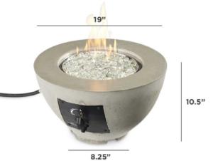 "Cove 12"" Gas Fire Pit Bowl"