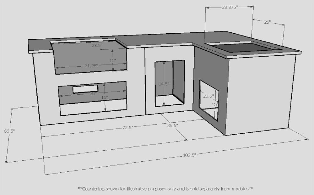 prefab outdoor kitchen designs